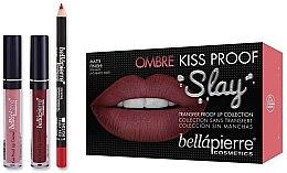 Парфюми, Парфюмерия, козметика Комплект - Bellapierre Ombre Kiss Proof Slay Kit (молив/1.5g+теч. червило/2x3.8ml)