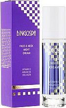 Парфюми, Парфюмерия, козметика Нощен крем за лице и шия с витамин С, арганово масло и колаген - BingoSpa Face&Neck Night Cream