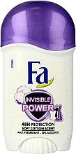 Парфюми, Парфюмерия, козметика Дезодорант стик - Fa Invisible Power Deodorant Stick