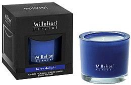 """Парфюмерия и Козметика Ароматна свещ """"Плодово възхищение"""" - Millefiori Milano Natural Candle Berry Delight"""