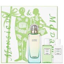 Парфюми, Парфюмерия, козметика Hermès Un Jardin sur le Nil - Комплект (тоал. вода 100 ml + лосион за тяло 40 ml + душ гел 40 ml)