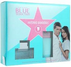 Парфюми, Парфюмерия, козметика Blue Seduction Antonio Banderas Woman - Комплект (edt/50ml + b/l/100ml)