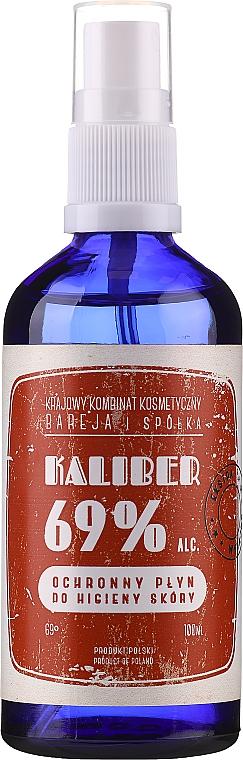 Антибактериална течност за ръце - Polny Warkocz Kaliber 69% — снимка N1