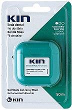Парфюмерия и Козметика Конец за зъби, мента - Kin Dental Floss With Wax Minty