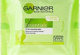 Парфюми, Парфюмерия, козметика Кърпички за почистване на грим - Garnier Skin Naturals Essentials
