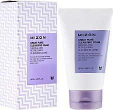 Парфюмерия и Козметика Почистваща пяна-скраб за лице - Mizon Great Pure