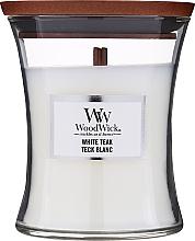 Парфюмерия и Козметика Ароматна свещ в чаша - WoodWick Hourglass Candle White Teak