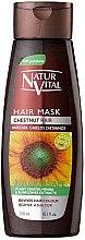 Парфюми, Парфюмерия, козметика Маска за запазване на цвета на боядисана коса - Natur Vital Coloursafe Henna Hair Mask Chestnut Hair