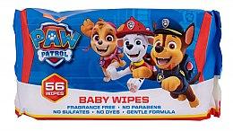 Парфюмерия и Козметика Мокри кърпички, 56 бр - Nickelodeon Paw Patrol Baby Wipes