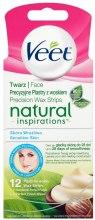 Парфюми, Парфюмерия, козметика Депилиращи восъчни ленти за лице с масло от Шеа - Veet Natural Inspirations Face Fine Slices Of Wax Sensitive Skin