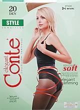 """Парфюмерия и Козметика Дамски чорапогащник """"Style"""" 20 Den, natural - Conte"""