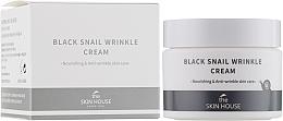 Парфюмерия и Козметика Подхранващ крем за лице с колаген и черен охлюв - The Skin House Black Snail Wrinkle Cream