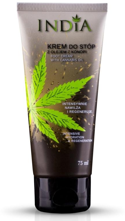 Крем за крака с масло от коноп - India Foot Cream With Cannabis