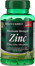 Хранителна добавка Цинк 25 мг на таблетки - Holland & Barrett Maximum Strength Zinc — снимка N1