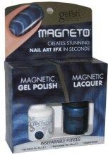 Парфюми, Парфюмерия, козметика Комплект лак за нокти - Gelish Inseparable Forces Magneto Combo Kit (nail/15ml + nail/10ml)