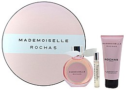 Парфюми, Парфюмерия, козметика Rochas Mademoiselle Rochas - Комплект (edp/90ml + b/lot/100ml + edp/7.5ml)