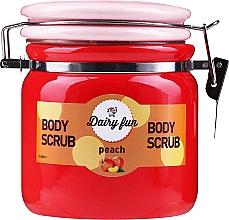 Парфюмерия и Козметика Скраб за тяло аромат на праскова - Delia Dairy Fun Body Scrub