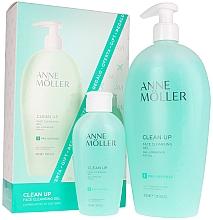 Парфюмерия и Козметика Комплект почистващ гел за лице - Anne Moller Clean Up (f/gel/400ml+f/gel/100ml)