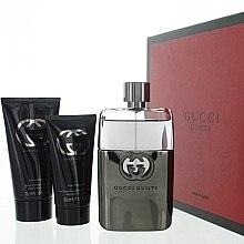 Парфюми, Парфюмерия, козметика Gucci Guilty Eau Pour Homme - Комплект (тоал. вода/90ml + душ гел/50ml + афтър. балсам/75ml)