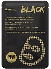 Парфюмерия и Козметика Маска за лице - Timeless Truth Mask Black Luxurious Gold Moisturising Black Charcoal Mask