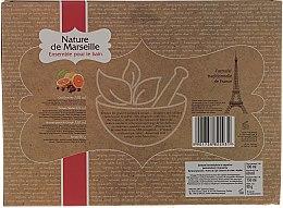 """Комплект за тяло """"Портокал и червена боровинка"""" - Nature de Marseille (лосион/150ml + душ гел/100ml + крем за ръце/60ml + сапун/90g) — снимка N2"""