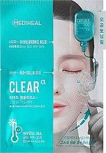 Парфюмерия и Козметика Биоцелулозна маска за лице с хиалуронова киселина - Mediheal Capsule 100 Bio Seconderm Clear Alpha 2 Step Face Mask