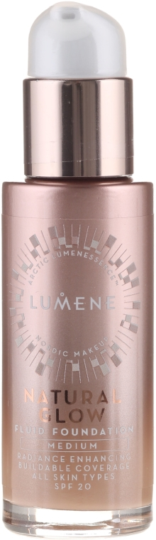Фон дьо тен-флуид - Lumene Natura Glow Fluid Foundation SPF 20