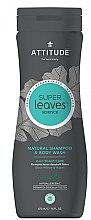 Парфюми, Парфюмерия, козметика Шампоан-душ гел за мъже - Attitude Super Leaves Natural Shampoo & Body Wash 2-in-1 Scalp Care