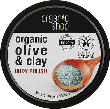 """Скраб за тяло """"Синя глина"""" - Organic Shop Body Scrub Organic Olive & Clay"""