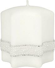 Парфюмерия и Козметика Декоративна свещ, 9х10см, бяла - Artman Crystal Pearl Candle