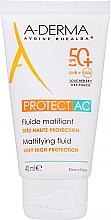 Парфюмерия и Козметика Матиращ флуид за лице - A-Derma Protect AC Mattifying Fluid SPF 50