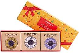 Парфюмерия и Козметика Комплект сапуни - L'occitane Trio De Savons (soap/3x100g)