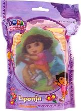 """Парфюмерия и Козметика Детска гъба за баня """"Дора"""", 169-11, розова - Suavipiel Dora Bath Sponge"""