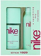 Парфюми, Парфюмерия, козметика Nike Sparkling Day Woman - Комплект (део/200ml + спрей за тяло/75ml)