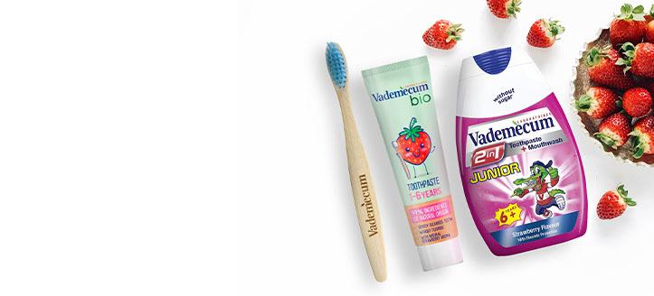 При покупка на всеки продукт Vademecum получавате подарък детска четка за зъби по избор