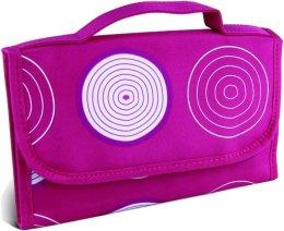 """Парфюми, Парфюмерия, козметика Козметична розова чанта с принт """"Спирали"""", средна - Donegal Cosmetic Bag"""