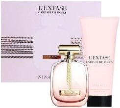 Парфюмерия и Козметика Nina Ricci L'Extase Caresse De Roses - Комплект (edp/80ml + b/lot/200ml)
