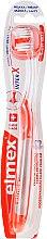 Парфюмерия и Козметика Мека четка за зъби, прозрачна с оранжево - Elmex Toothbrush Caries Protection InterX Soft Short Head
