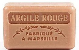 Парфюмерия и Козметика Марсилски сапун с червена глина - Foufour Savonnette Marseillaise Argile Rouge
