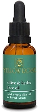 Парфюмерия и Козметика Масло за лице - Yellow Rose Olive And Herbs Face Oil