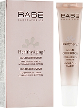 Парфюмерия и Козметика Антистареещ мулти коректор за околоочния контур и устни - Babe Laboratorios Healthy Aging Multi Corrector