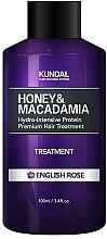 """Парфюмерия и Козметика Балсам за коса """"Английска роза"""" - Kundal Honey & Macadamia Treatment English Rose"""