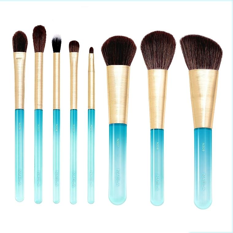 Комплект четки за грим, 8 бр. - Nabla Aquamarine Essential Brush Set — снимка N1