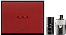Парфюми, Парфюмерия, козметика Gucci Guilty Eau Pour Homme - Комплект (тоал. вода/50ml + део/75ml)