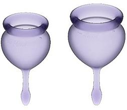 Парфюмерия и Козметика Комплект менструални чаши, виолетови - Satisfyer Feel Good Menstrual Cups Lila
