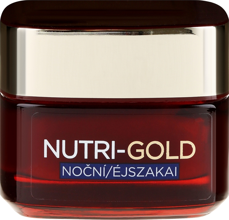 Нощен подхранващ крем за лице - L'Oreal Paris Nutri Gold Ultimate Nutrition Rich Night Cream — снимка N2