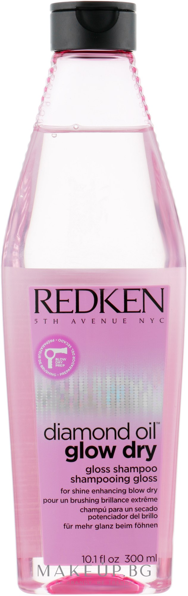 Шампоан придаващ блясък на косата - Redken Diamond Oil Glow Dry — снимка 300 ml