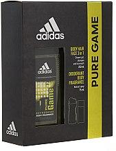 Парфюмерия и Козметика Adidas Pure Game - Комплект за мъже (део/75ml + душ гел/250ml)