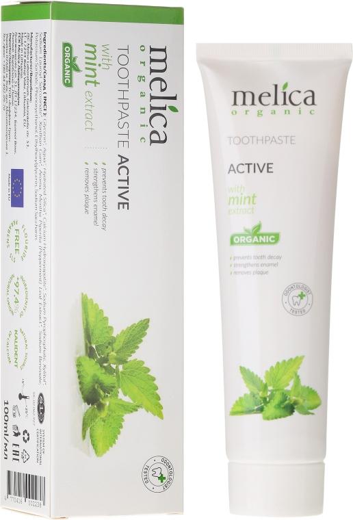 Паста за зъби с екстракт от мента - Melica Organic