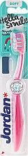 Парфюми, Парфюмерия, козметика Детска четка за зъби Hello Smile, мека, розова - Jordan Hello Smile Soft
